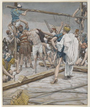 Jesus Stripped of His Clothing, illustration from 'The Life of Our Lord Jesus Christ', 1886-94 Canvas Print
