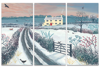 Jo Grundy - Coming Home for Winter Canvas Print