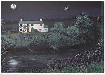 Canvas Print Jo Grundy - Moon River