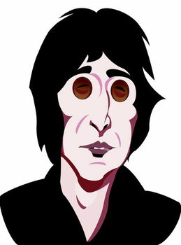 John Lennon, English singer, songwriter , colour 'graphic' caricature, 2005/10 by Neale Osborne Canvas Print