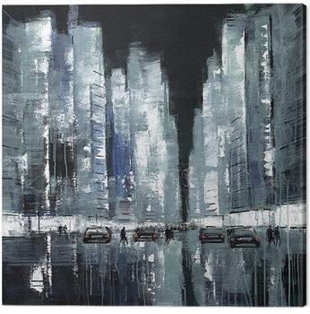 Jon Barker - New York Never Stops Canvas Print