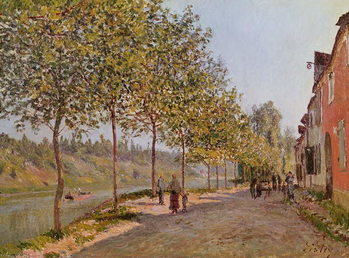June Morning in Saint-Mammes, 1884 Canvas Print
