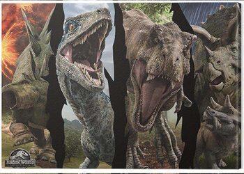 Canvas Print Jurassic World: Fallen Kingdom - Dinosaur Split