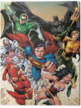 Canvas Print Justice League - Attack