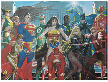 Canvas Print Justice League - Characters