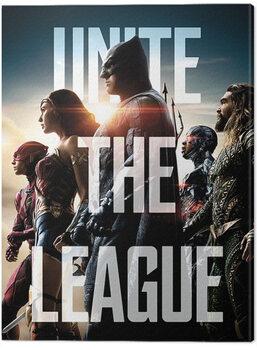 Canvas Print Justice League Movie - Unite The League