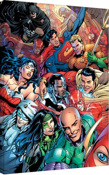 Canvas Print Justice League - Selfie