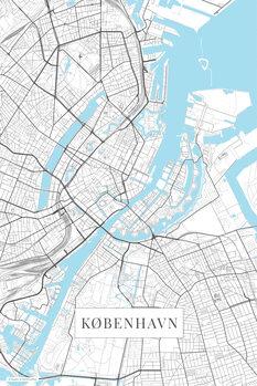 Canvas Print København white