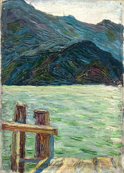 Kochelsee over the bay, 1902 Canvas Print
