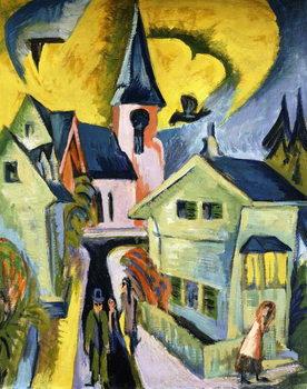 Konigstein with Red Church; Konigstein mit roter Kirche, 1916 Canvas Print
