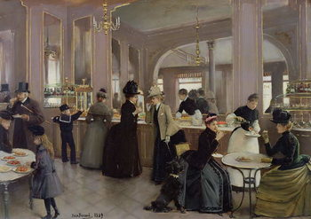 La Patisserie Gloppe, Champs Elysees, Paris, 1889 Canvas Print