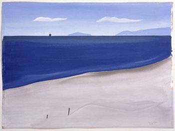 La Plage de Carnon, 1987 Canvas Print