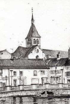 Canvas Print Laignes France, 2007,