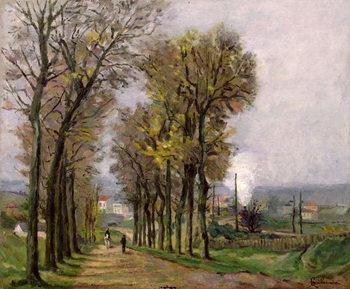 Landscape in the Ile de France, c.1878 Canvas Print