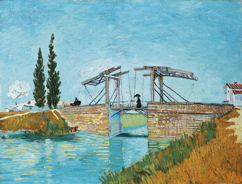 Langlois Bridge at Arles, by Vincent van Gogh Canvas Print