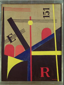 Large Railway Painting, 1920 Canvas Print