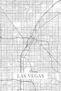 Canvas Print Las Vegas white