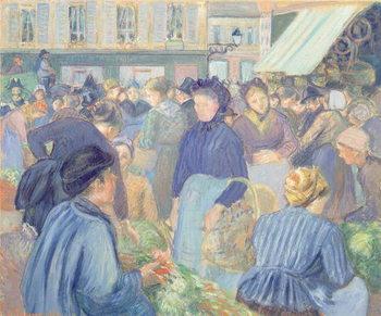 Le Marche de Gisors, 1889 Canvas Print