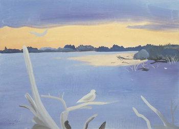 Le Rhone au Gabian, 1987 Canvas Print