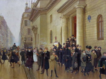 Leaving the Lycee Condorcet, 1903 Canvas Print