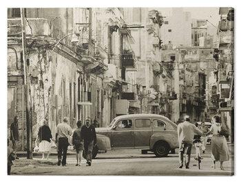 Canvas Print Lee Frost - Havana Street, Cuba