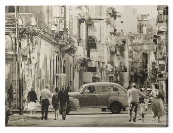 Lee Frost - Havana Street, Cuba Canvas Print