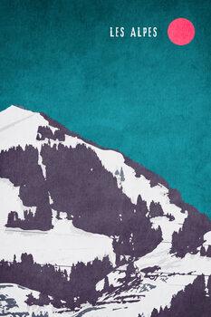 Canvas Print Les Alpes