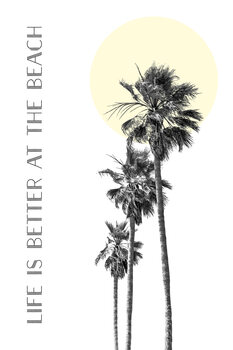 Life is better at the beach | palm trees Canvas Print