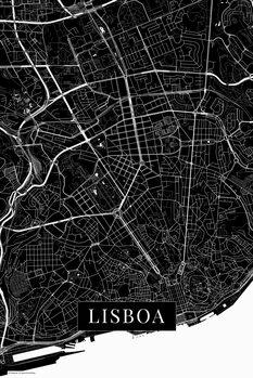 Canvas Print Lisboa black