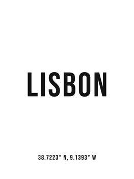 Lisbon simplecoordinates Canvas Print