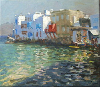 Little Venice, Mykonos Canvas Print