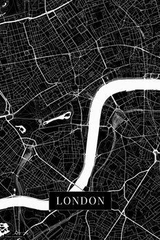 Canvas Print London black