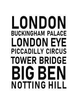 Canvas Print london