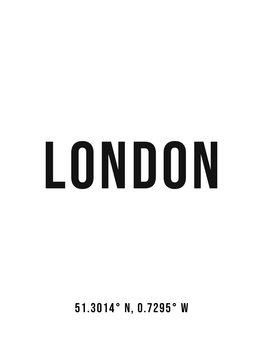 London simple coordinates Canvas Print