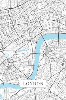 Canvas Print London white