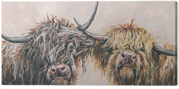 Louise Brown - Nosey Cows Canvas Print