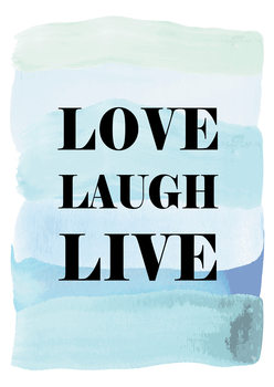 Love Laugh Live Canvas Print