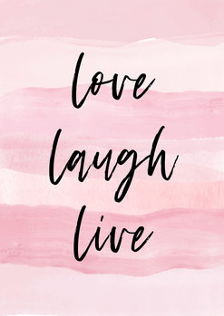 Canvas Print Love Laught Quote Pink