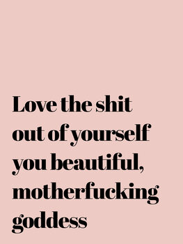 Love the shit out of yourself Canvas Print