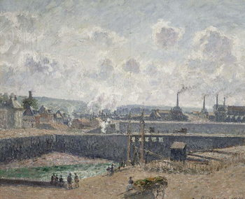 Low Tide at Duquesne Docks, Dieppe, 1902 Canvas Print