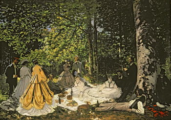 Luncheon on the Grass, 1865-66 Canvas Print