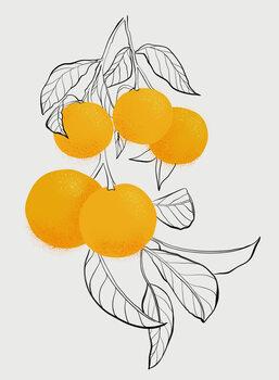 Canvas Print Mabel orange