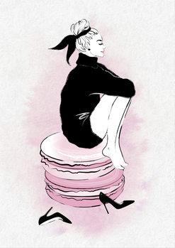 Canvas Print Macaron Girl