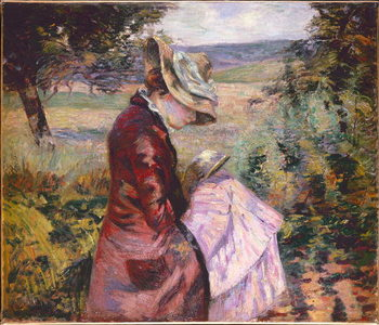 Madame Guillaumin reading, c.1887 Canvas Print