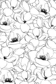 Canvas Print Magnolias