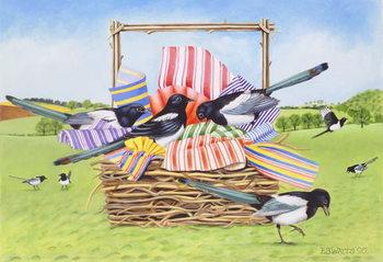 Magpies, 1990 Canvas Print