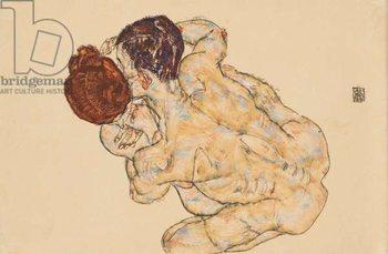 Man and Woman (Embrace); Mann und Frau (Umarmung), 1917 Canvas Print