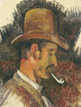 Man with Pipe, 1892-96 Canvas Print