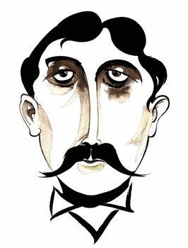 Marcel Proust -  caricature Canvas Print