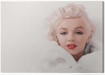 Canvas Print Marilyn Monroe - White